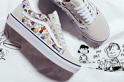 0700f700bbc39e VANS OLD SKOOL Peanuts Multi True White Men s Shoes 4 - Women s 5.5 ...