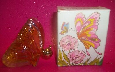 "NEW Avon ""BUTTERFLY"" Topaze Cologne Iridescent Collectible Bottle w/ Box"