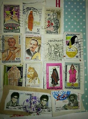 14 x Tunisia Stamps -  People theme.  You will receive all Stamps shown