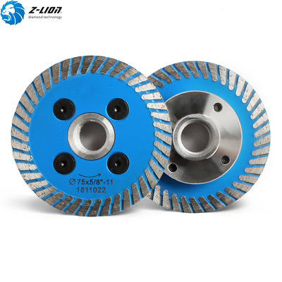 3'' Diamond Cutting Blade Disc 75mm Removable flange Sharpen 5/8-11 Marble Stone