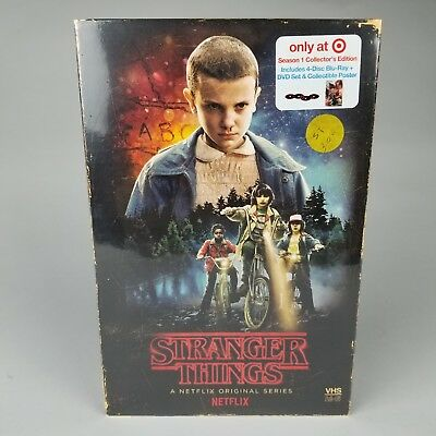 Stranger Things Season 1 Target Exclusive 4 Disc Blu-Ray Collectors Edition VHS