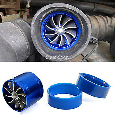 Car Super Charger Double Turbonator Cold Air Intake Fuel Saver Turbo Charge Fan