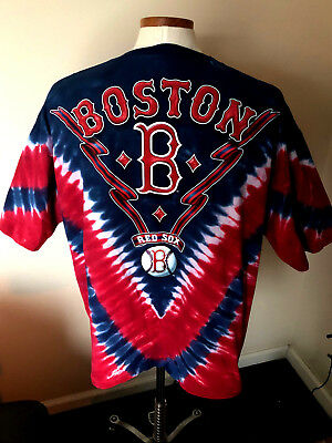 Boston Red Sox Tie Dye T-Shirt - Mens Size 2XL - Baseball Made in USA Lee Sport