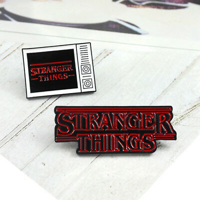 Cartoon TV English Letter Stranger Things Badge Brooch Pin Jewelry Decor Utility