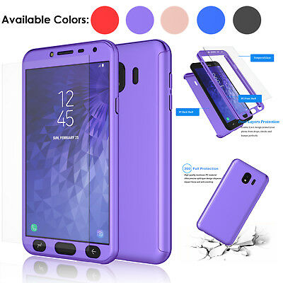 For Samsung Galaxy J4 Case 360 Full Body Hybrid Phone Cover W/ Screen Protector
