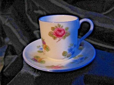 Shelley Rose Pansy Forget Me Not MINIATURE Teacup/Saucer Canterbury NOW $15 OFF