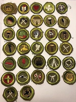 Rare Vintage BSA 32 Twill Merit Badges Boy Scouts Of America 1930s And 1940s