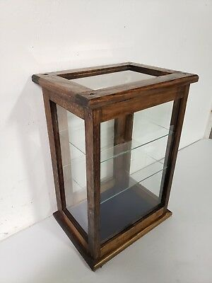 Vintage Country Store Display Showcase Wood Glass General Counter Top