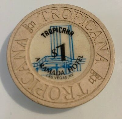 Tropicana $1 Casino Chip Las Vegas Nevada 2.99 Shipping