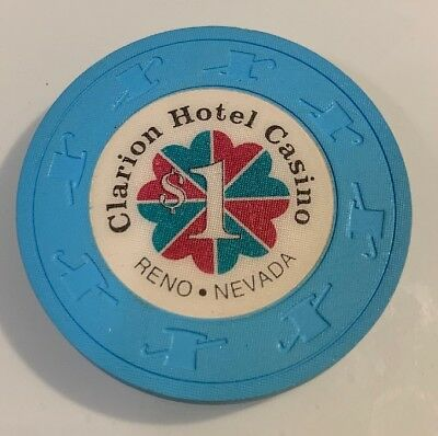 Clarion Hotel $1 Casino Chip Reno Nevada 2.99 Shipping