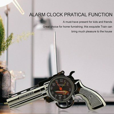 Vintage Artistic Gun Shaped Alarm Clock Shelf Decor with Quartz Movement UK&#