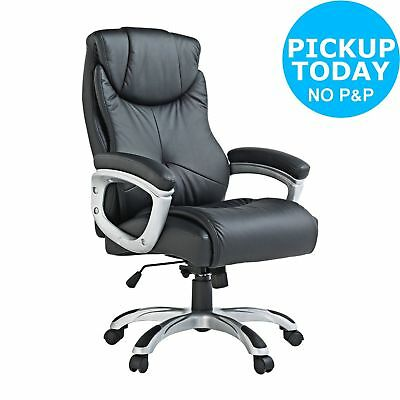 X-Rocker Executive Height Adjustable Leather Effect Office Chair - Black