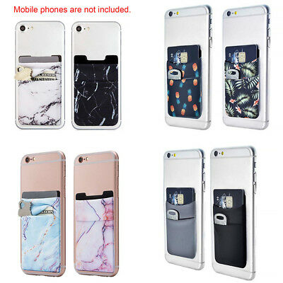 Credit Card Car ID Holder Universal lycra Wallet For Cell Phone &Case Stick On