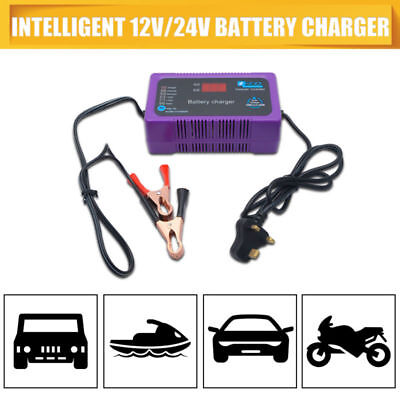 12V 24v CAR FAST CHARGE BATTERY CHARGER 4-200AH 2A 6A AUTOMATIC DETECTION SMART