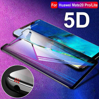 For Huawei Mate 20/Pro/Lite Full Screen Protector 5D Curved Tempered Glass Film
