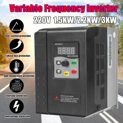 1.5/2.2/3KW 220V Single To 3 Phase Variable Frequency Drive Inverter Vector VFD
