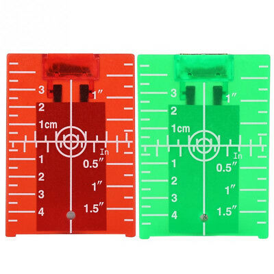 Magnetic Target Plate Rotary Cross Line Laser Level Distance Meter Double Scale