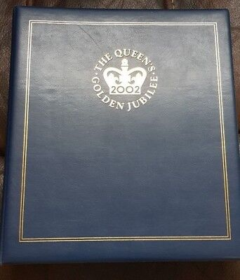 Queens golden jubilee coin  and first day cover 2002 collection.