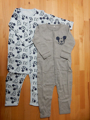 2er Set Baby Bodys Disney´s Mickey Mouse Body 2 Stück Strampler 92 98  *E15