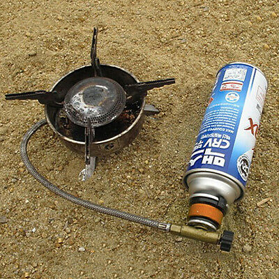 Picnic Burner Cartridge Gas Fuel Canister Stove Cans Adapter Converter Head HDUK