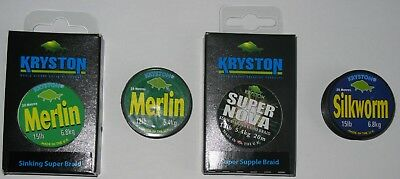 Joblot Kryston Braid, Carp Fishing, Barbel, Chub