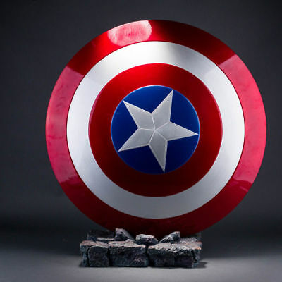 Captain America Shield 1:1 ABS Replica Metal Color Avengers Cosplay Props Gift