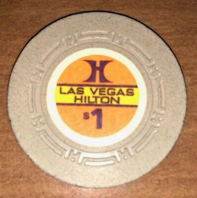 Las Vegas Hilton Hotel and Casino, Las Vegas, NV Obsolete $1 H mold Casino Chip