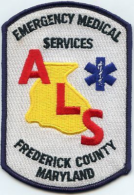 FREDERICK COUNTY MARYLAND MD Emergency Medical Services EMS FIRE PATCH