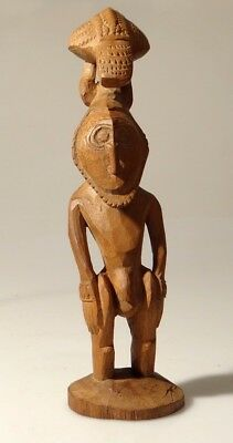 Ancestral Spirit Figure Murik Lakes Papua New Guinea Tribal Carved Png