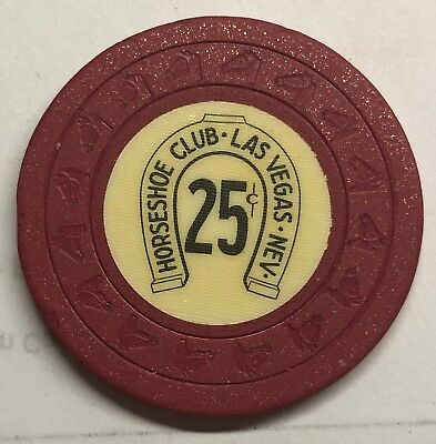 Horseshoe Club Las Vegas, NV, Obsolete 25 cent horseshead mold Casino Chip