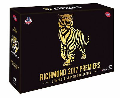AFL RICHMOND 2017 PREMIERS COMPLETE Season Tigers DVD 27-DISCS GIFT BRAND NEW R4