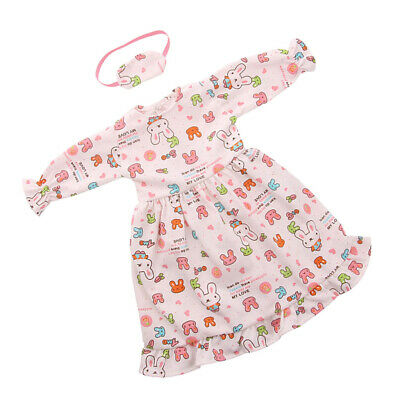 Cute Rabbit Nightdress + Eye Mask Suit For 18 Inch Doll Clothes 43-45cm Doll