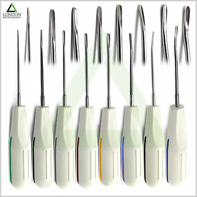 Set of 8 Dental Luxation Elevators Tooth Root Extraction Oral Surgery Tools New