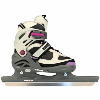 Nijdam Girls Kids Speed Ice Skates Boots Shoes Blades Size 38-41 3413-AGP-38-41