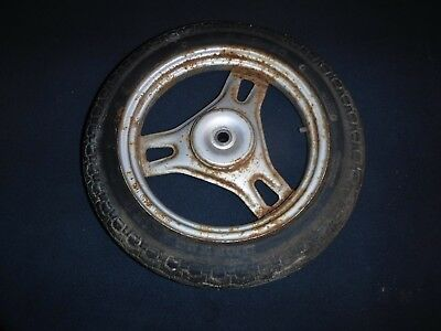 86 Honda Spree 50 Oem Rear Wheel Back Rim W Tire 42650-Gk8-010Za Mh7
