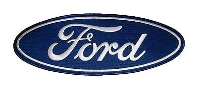 "New Oem Large 4"" X 10 3/4"" Classic Ford Oval Embroidered Iron On Or Sew On Patch"