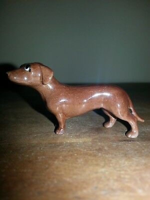 Hagen Renaker Monrovia Era  Dachshund Dog with Eyewhites