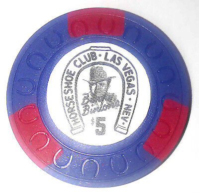 Binions Horseshoe $5 Obsolete horseshoemold casino chip