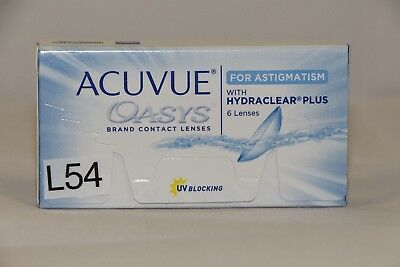 Acuvue OASYS Hydraclear PLUS 1×6  BC 8.6 D -7.50 CYL -0.75 140 (L54)