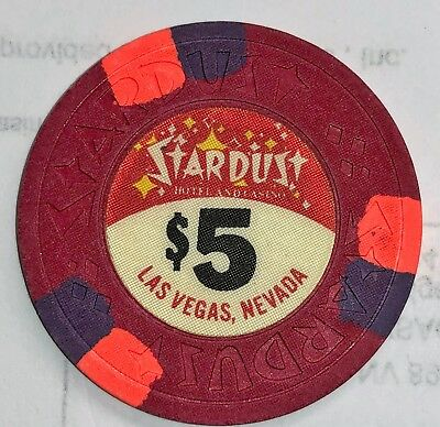 Stardust Hotel and Casino Obsolete $5 Casino Chip
