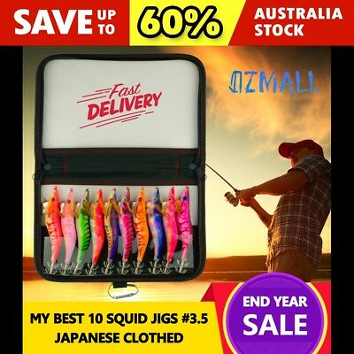 10 Best Luminous Squid Jigs Japanese Clothed Fishing Lures #3.5 With Bonus Case