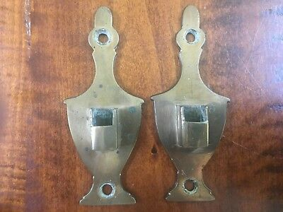 Rare 18th or 19th Century PAIR OF CAST BRASS AMERICAN URN TOP FEDERAL JAMB HOOKS