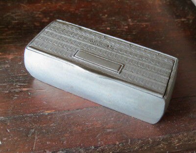 ANTIQUE PEWTER SNUFF BOX with WAVY PATTERN