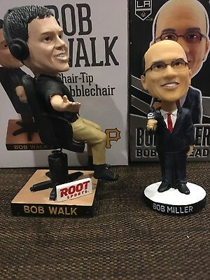 Bob Miller Los Angeles Kings And Bob Walk Pittsburgh Pirates Bobbleheads NHL MLB