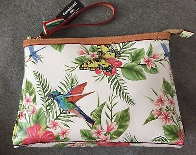... Cosmetic Bag black bouquet Floral Leather 06ro NEW NWT.  54.95 Buy It  Now 22d 12h. See Details. Cavalcanti 4500110354e77