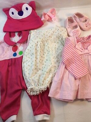 "Lot Of Outfits Dresses 16"" Baby Doll Clothes Shoes Fits Luvabella Luva"