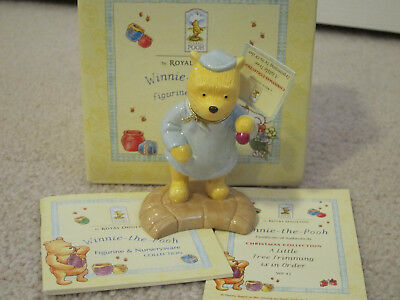 Royal Doulton Winnie the Pooh A little Tree Trimming is in Order Figurine WP41
