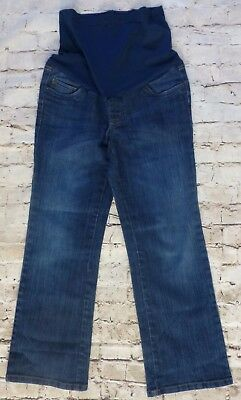 Motherhood Maternity Denim Jeans Women's Size Petite Small Belly Band Comfy