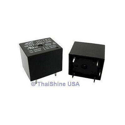 3 x Mini Relay SPDT 5 Pins 9VDC 10A 120V Contact - USA SELLER - Free Shipping