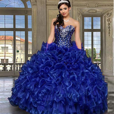54e2e69c552a9 Stock Ball Gown Quinceanera Dresses Sweethert Crystals Vestidos Sweet 16  Dresses